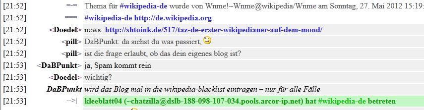 Shtoink auf der Blacklist